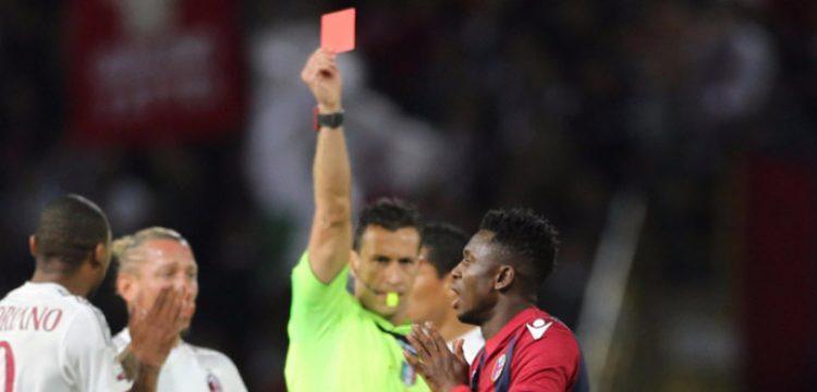 Amadou Diawara espulso in Bologna-Milan