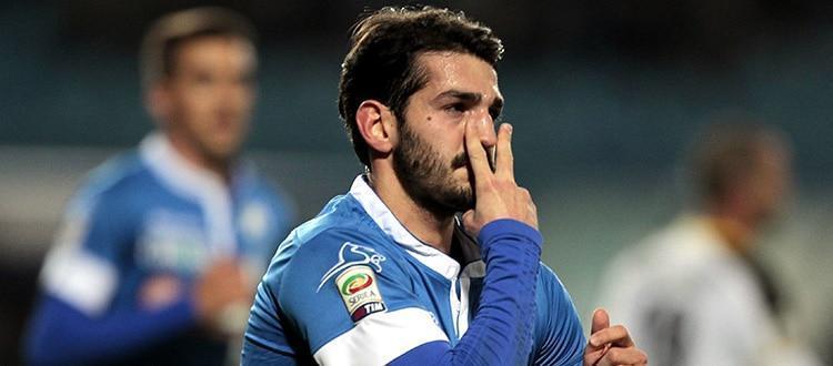 L'esultanza di Riccardo Saponara dopo un gol all'Udinese