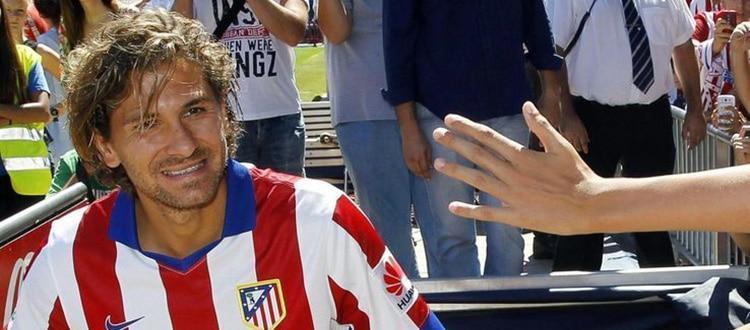 Alessio Cerci durante la sua presentazione ufficiale all'Atletico Madrid