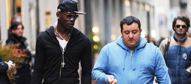 Mario Balotelli con il suo agente Mino Raiola