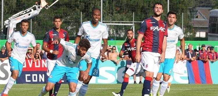Un'azione di Bologna-Schalke 04 (foto: bolognafc.it)
