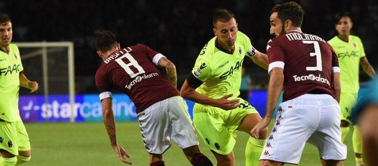 Gastaldello in azione durante Torino-Bologna 5-1