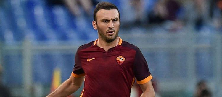 Vasilis Torosidis in azione con la maglia della Roma