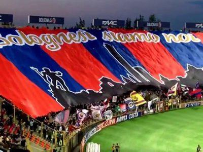 Maxi coreografia prima di Bologna-Fiorentina, la Curva Bulgarelli di nuovo pronta a dare spettacolo