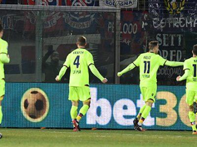 Bologna, intelligenza e attributi per piegare il Crotone: 0-1 allo Scida