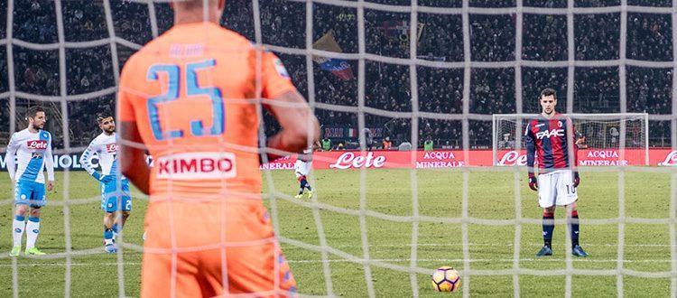 L'ultimo rigore in favore del Bologna lo scorso 4 febbraio, nella disfatta contro il Napoli