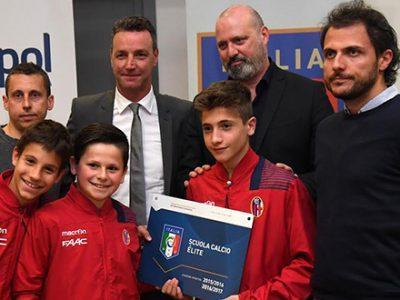 Il Bologna premiato fra le migliori scuole calcio dell'Emilia-Romagna