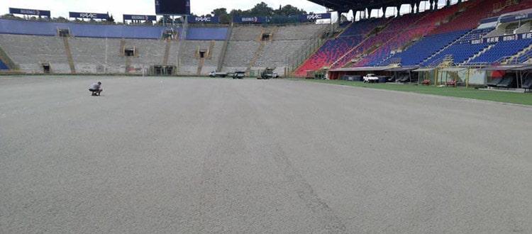 Rizollatura in corso allo stadio Dall'Ara