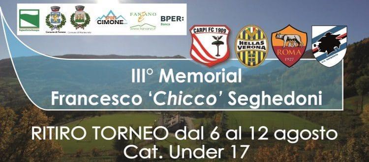 Dal 6 al 12 agosto a Fanano il 3° Memorial Francesco Seghedoni