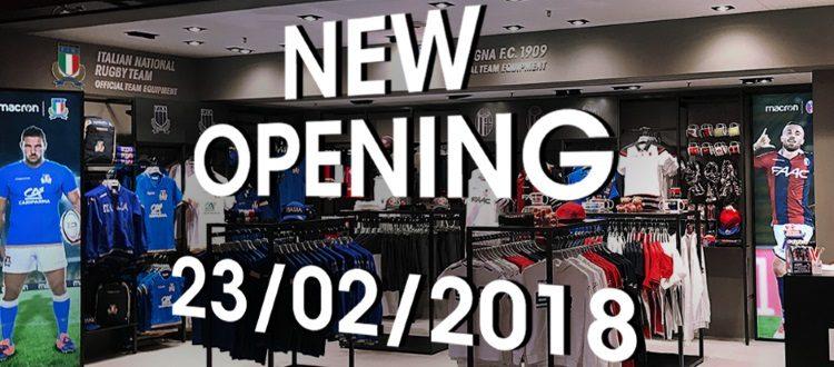 Inaugurato il nuovo store Macron all'aeroporto Marconi