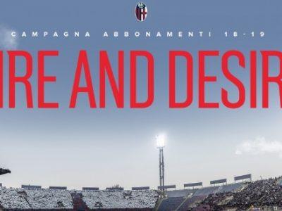 Ecco 'Fire and Desire', la campagna abbonamenti 2018-2019 del Bologna: si parte il 2 luglio