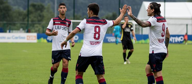 Il Bologna supera 9-0 il Comano Terme: Orsolini trascinatore con una tripletta, primo gol per Santander