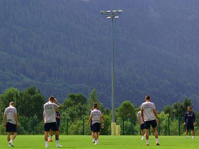 Per il Bologna allenamento tra campo e palestra, domani l'amichevole contro il Pinzolo