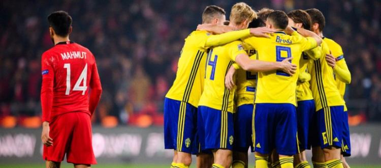 Svezia vittoriosa 1-0 in Turchia: buona prova di Helander, non impiegato Svanberg