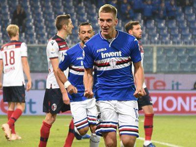 Un Bologna da Serie B cola a picco a Genova, la Sampdoria passeggia 4-1