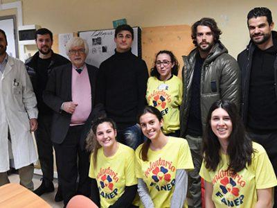 Una delegazione rossoblù per i piccoli pazienti del Gozzadini