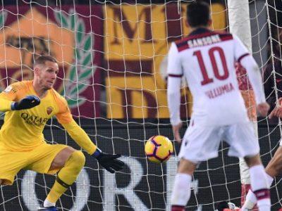 Rossoblù sontuosi ma beffati all'Olimpico: Roma-Bologna 2-1