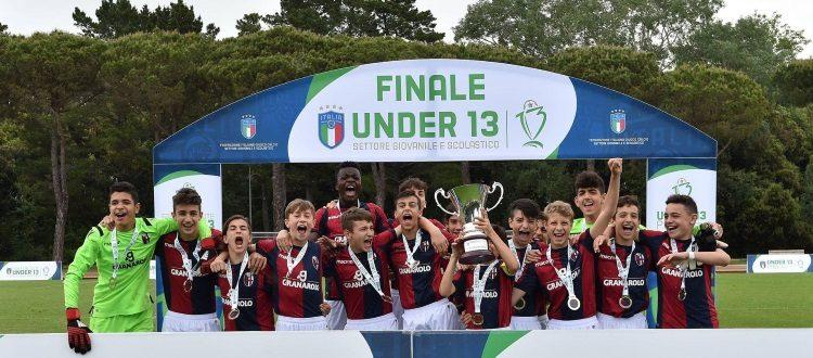 Il Bologna Under 13 è campione d'Italia, trionfo rossoblù nella fase finale di Tirrenia
