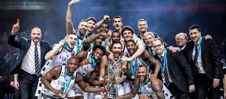 Trionfo bolognese ad Anversa, la Virtus piega 73-61 Tenerife e conquista la Champions League