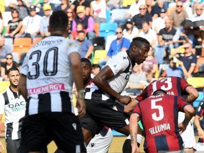 Un brutto Bologna perde una bruttissima partita, Okaka fa felice l'Udinese: 1-0