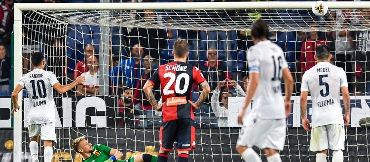 Genoa e Bologna si annullano, poi Sansone butta via la vittoria: 0-0 a Marassi