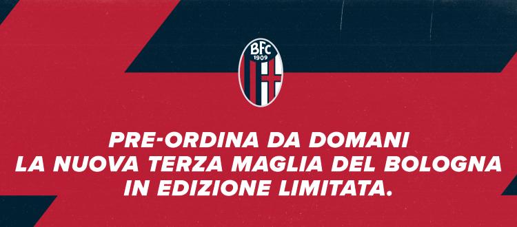 Da domani il pre-order della terza maglia del Bologna, sarà in edizione limitata