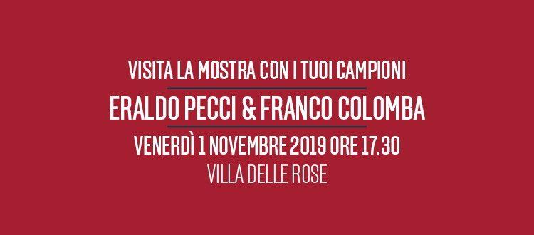 Visita la mostra con i tuoi campioni: venerdì dalle 17:30 Pecci e Colomba a Villa delle Rose