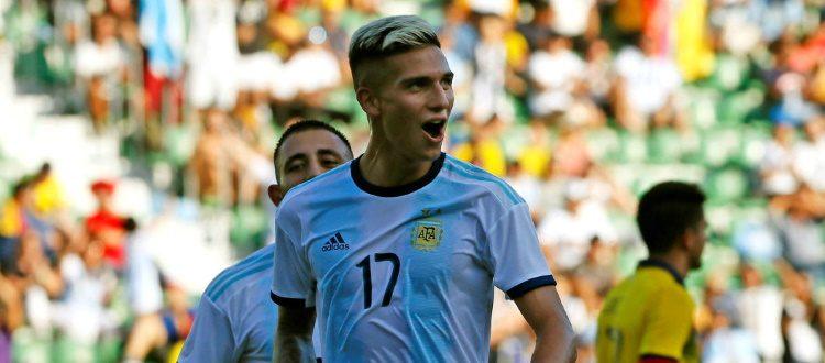 Primo gol di Dominguez con l'Argentina, il futuro rossoblù a segno nel 6-1 rifilato all'Ecuador