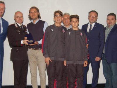La Scuola Calcio del Bologna premiata come attività d'élite in Emilia-Romagna
