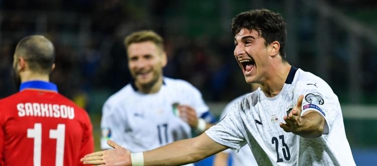 Gol all'esordio in Nazionale, Orsolini nella storia del Bologna. L'ultimo a riuscirci era stato Pera - Zerocinquantuno.it