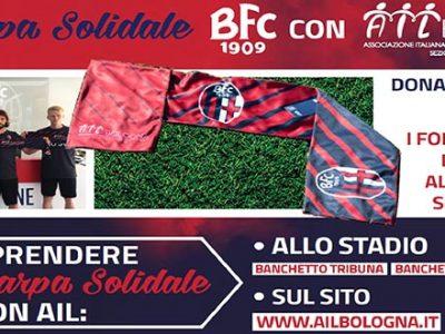 Domenica per Bologna-Atalanta in vendita la Sciarpa Solidale BFC con AIL Bologna