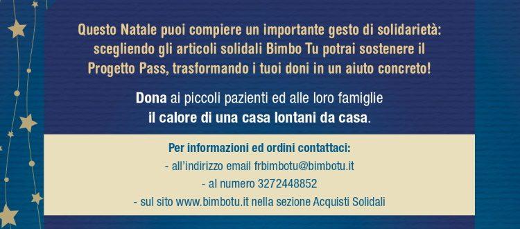 Per i tuoi regali di Natale scegli i prodotti solidali di Bimbo Tu!