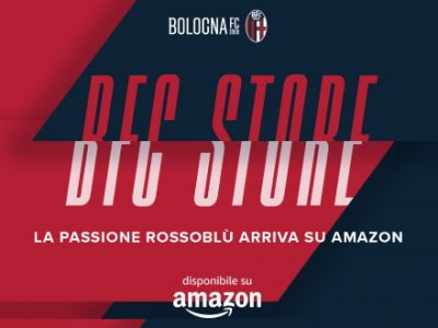 I prodotti ufficiali del Bologna FC 1909 sono anche su Amazon