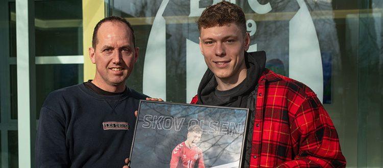 L'Assocalciatori danese ha eletto Andreas Skov Olsen 'talento maschile del 2019'