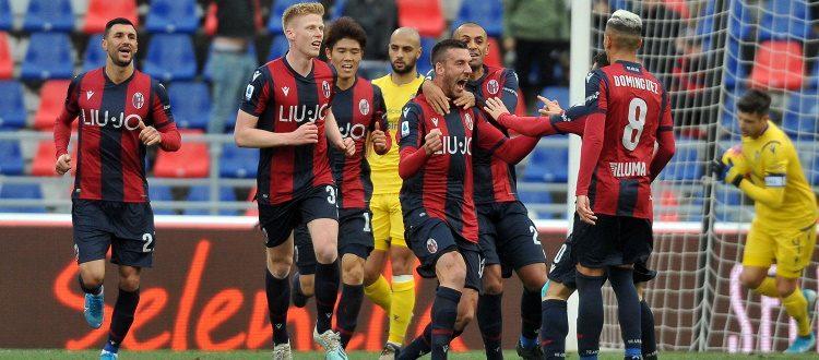 Il Bologna gioca, segna, controlla e poi si butta via: 1-1 col Verona tra mille brividi