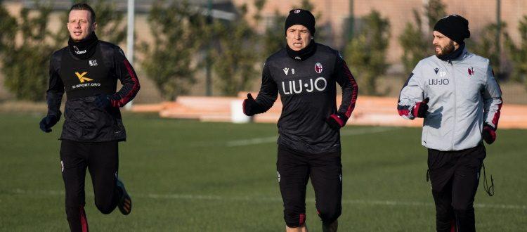 Ripresa degli allenamenti: Santander in gruppo, Dzemaili out per febbre, Destro partito per Genova