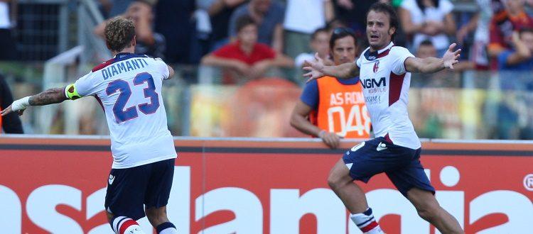 Un solo successo del Bologna negli ultimi 10 precedenti a Roma: 16 settembre 2012, rimonta firmata Diamanti-Gilardino