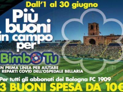 Il Bologna e Conad lanciano l'iniziativa solidale 'Più buoni in campo per Bimbo Tu'