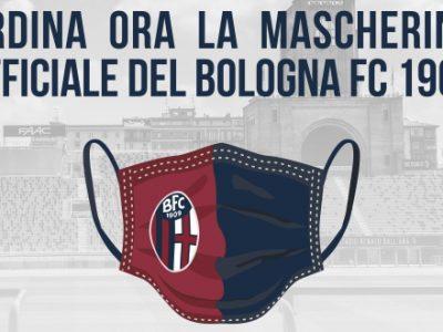 Disponibile in pre-order la mascherina ufficiale del Bologna, per ogni acquisto 2 € in beneficenza