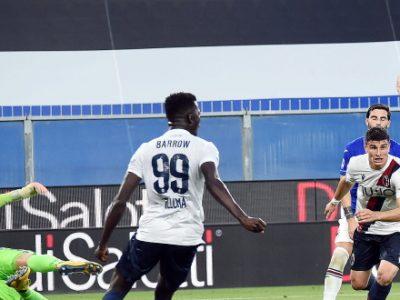 Il Bologna espugna Marassi con Orsolini e un super Barrow. Sofferenza nel finale, ma la Samp deve inchinarsi: 1-2