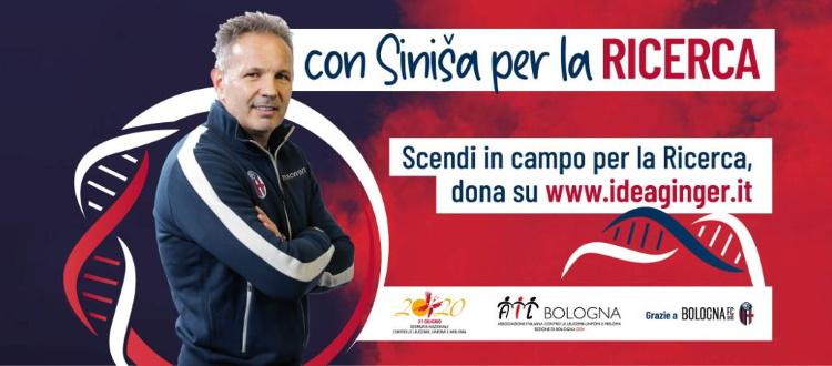 AIL Bologna lancia la campagna 'Con Sinisa per la Ricerca'. Mihajlovic: