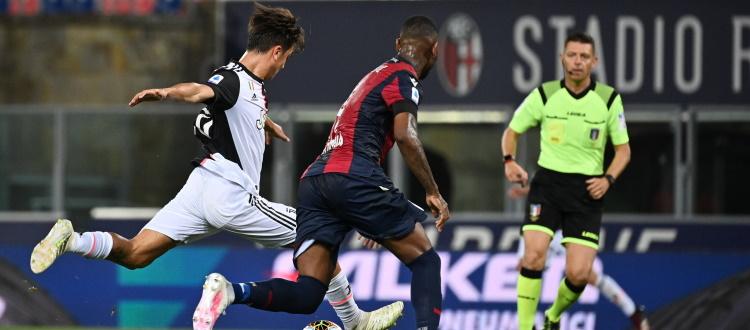 Un rigore (dubbio) di Ronaldo e una perla di Dybala, la Juventus passa 2-0 a Bologna senza troppi affanni