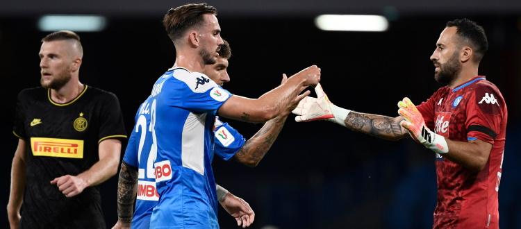 Napoli seconda finalista di Coppa Italia: l'Inter non va oltre l'1-1 al San Paolo, decisivo Ospina