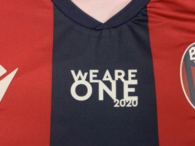 Bologna, contro la Juve una patch speciale sulle maglie e il lutto al braccio per Gazzoni e le vittime del COVID-19
