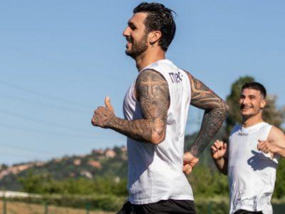 Seduta atletica agli ordini del preparatore Marchesi, la preparazione verso Bologna-Juve riprenderà lunedì