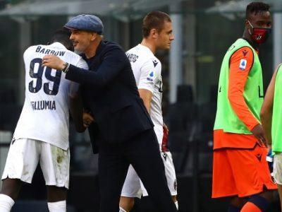 Lukaku illude l'Inter, Skorupski la stoppa, Barrow e Juwara la ribaltano: 2-1 Bologna a San Siro, nuova impresa di Mihajlovic