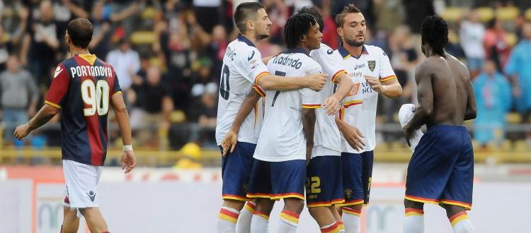 Bologna-Lecce, l'ultimo precedente in A coincide con l'unica vittoria dei salentini al Dall'Ara: era il 18 settembre 2011
