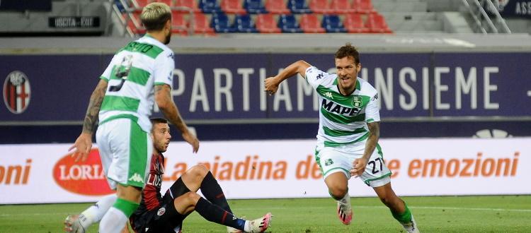 Sassuolo al top, Bologna in serata no: i neroverdi sbancano il Dall'Ara 2-1 con Berardi e Haraslin
