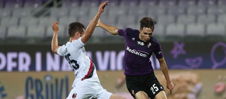 Al Franchi il Bologna regge un tempo e poi crolla sotto i colpi di Chiesa: 4-0 da incubo per la Fiorentina