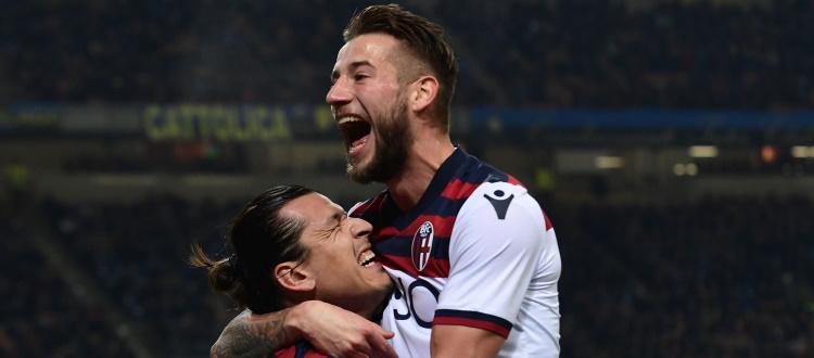 Inter nettamente avanti sul Bologna nel bilancio delle sfide a San Siro, ma l'anno scorso fu gioia rossoblù